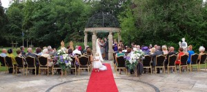 Outdoor weddings at Llyndir Hall with True Reflections and Grays Photography