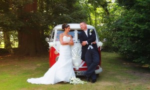 VW camper at weddings in Wrexham