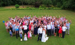 Wedding party at the Cross Lanes Hotel Wrexham