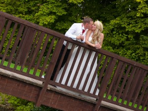 Quiet times for the bride and groom at the riverside