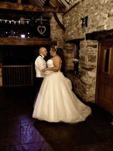 first dance wedding photography near Corwen