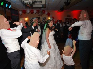 Fun times during first dance
