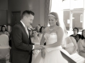 Black & White ceremony shots at Craxton Wood Hotel, Wirral