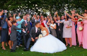 Simply Stunning Confetti shot on the wirral