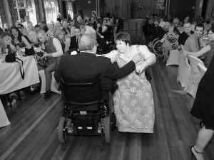 A perfect wheel chair first dance
