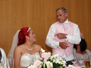 Wedding day speeches by Grays Photography