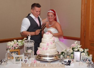 Evening reception - cake cutting