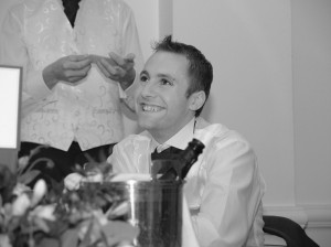 Groom with best mans speech - oswestry weddings