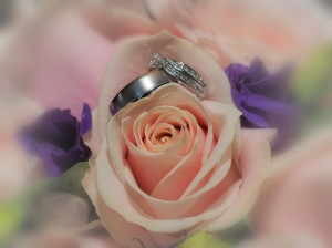 Wedding rings and wedding flowers north wales