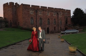Shrewsbury Castle with Wedding Cars