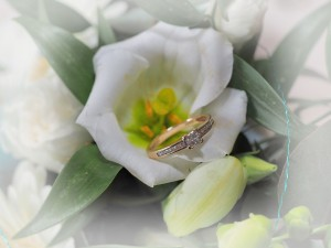 wedding ring and wedding flowers in wrexham and oswestry